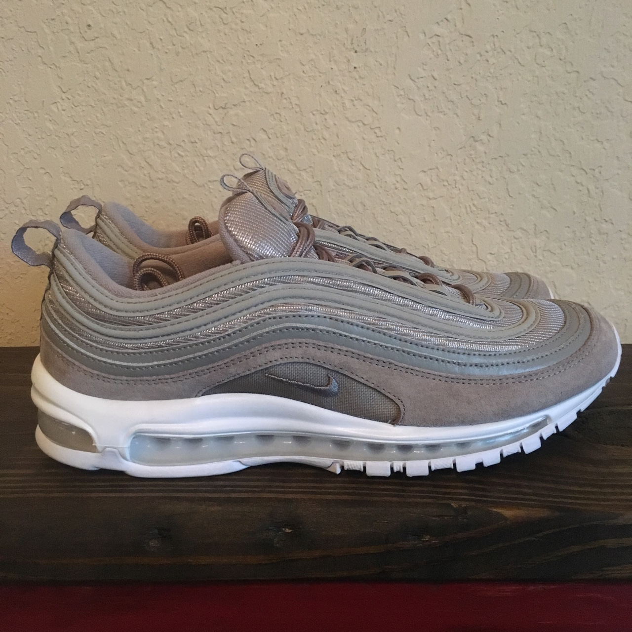 Nike Air Max 97 W chaussures or rouge marron Stylefile