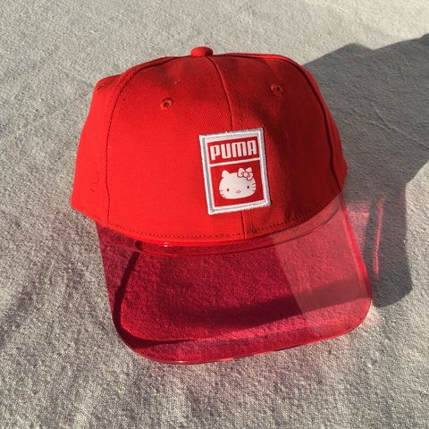 Puma x Hello Kitty hat with transparent brim ❤ 🎀 NWT and of - Depop 99d68f937866