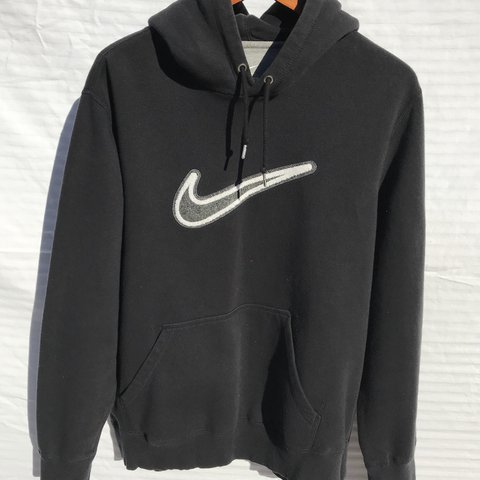 a2378ead3271 Nike pullover hoodie w  embroidered swoosh   swoosh on draw - Depop