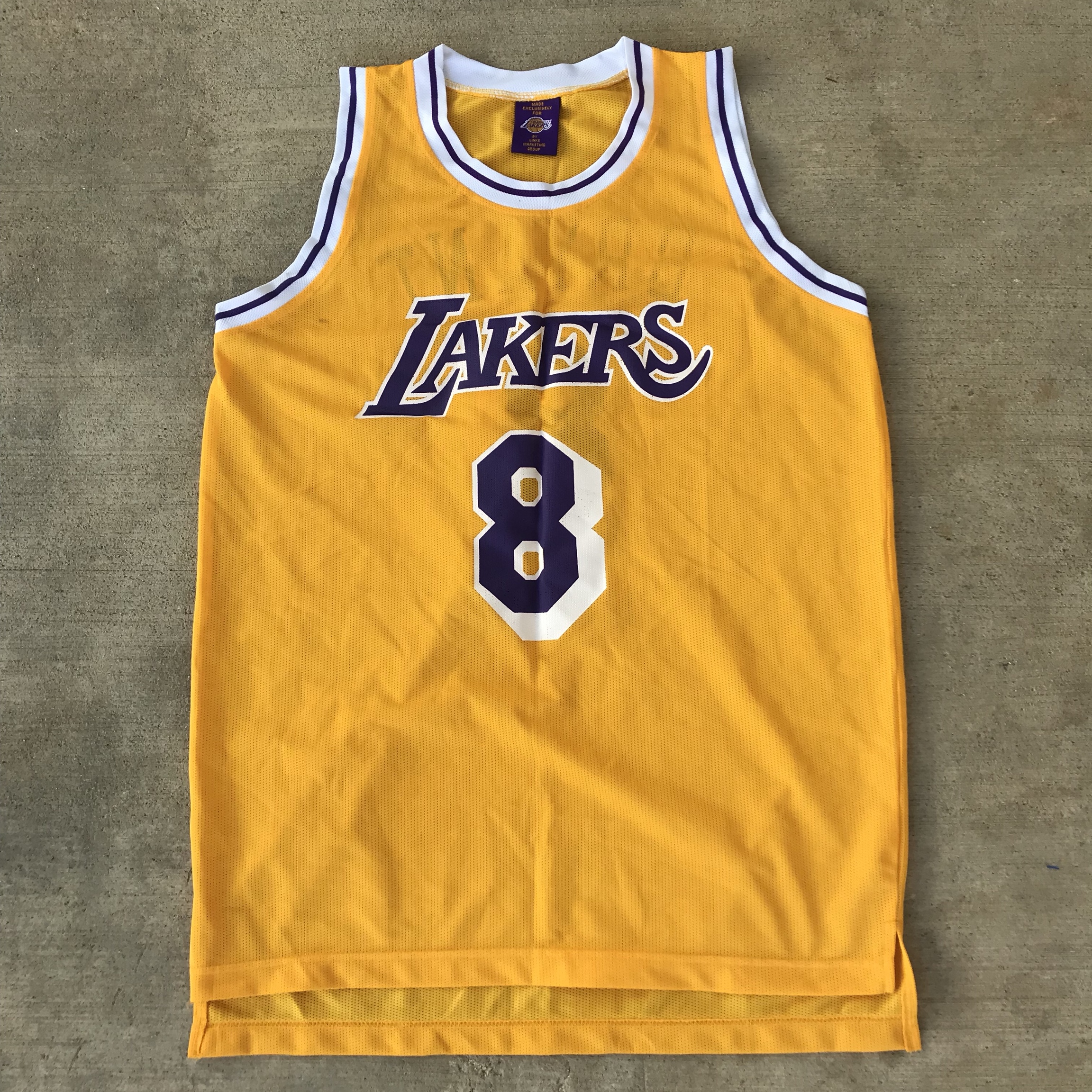 Original Kobe #8 Lakers jersey, official made for...