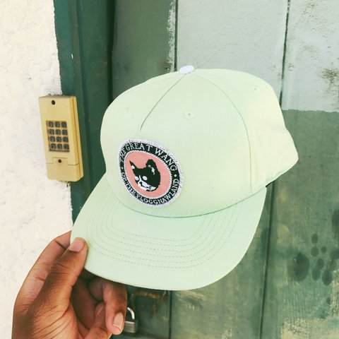 7125c59ab15 THE GREAT WANG   OF THE  FLOGGNAW LAND   LIME GREEN HAT   - Depop