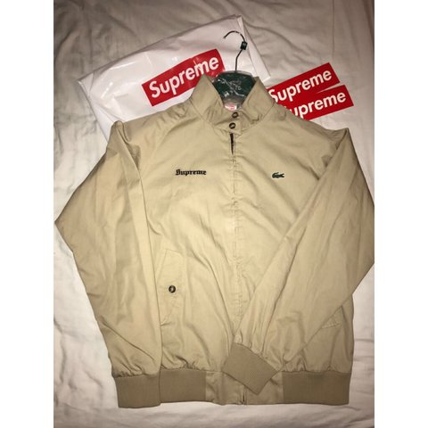54fb553bf8925 SUPREME X LACOSTE PRICE DROP - £315 Supreme x Lacoste in up - Depop