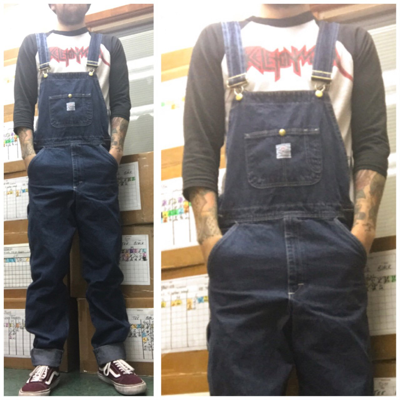 c989b3cc Pointer Brand overalls. Medium wash denim with contrast in - Depop