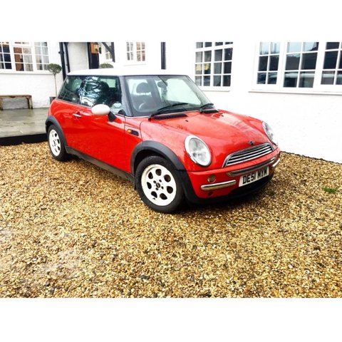 Bmw Mini Cooper For Sale 51 Plate Red And White Chrome Depop