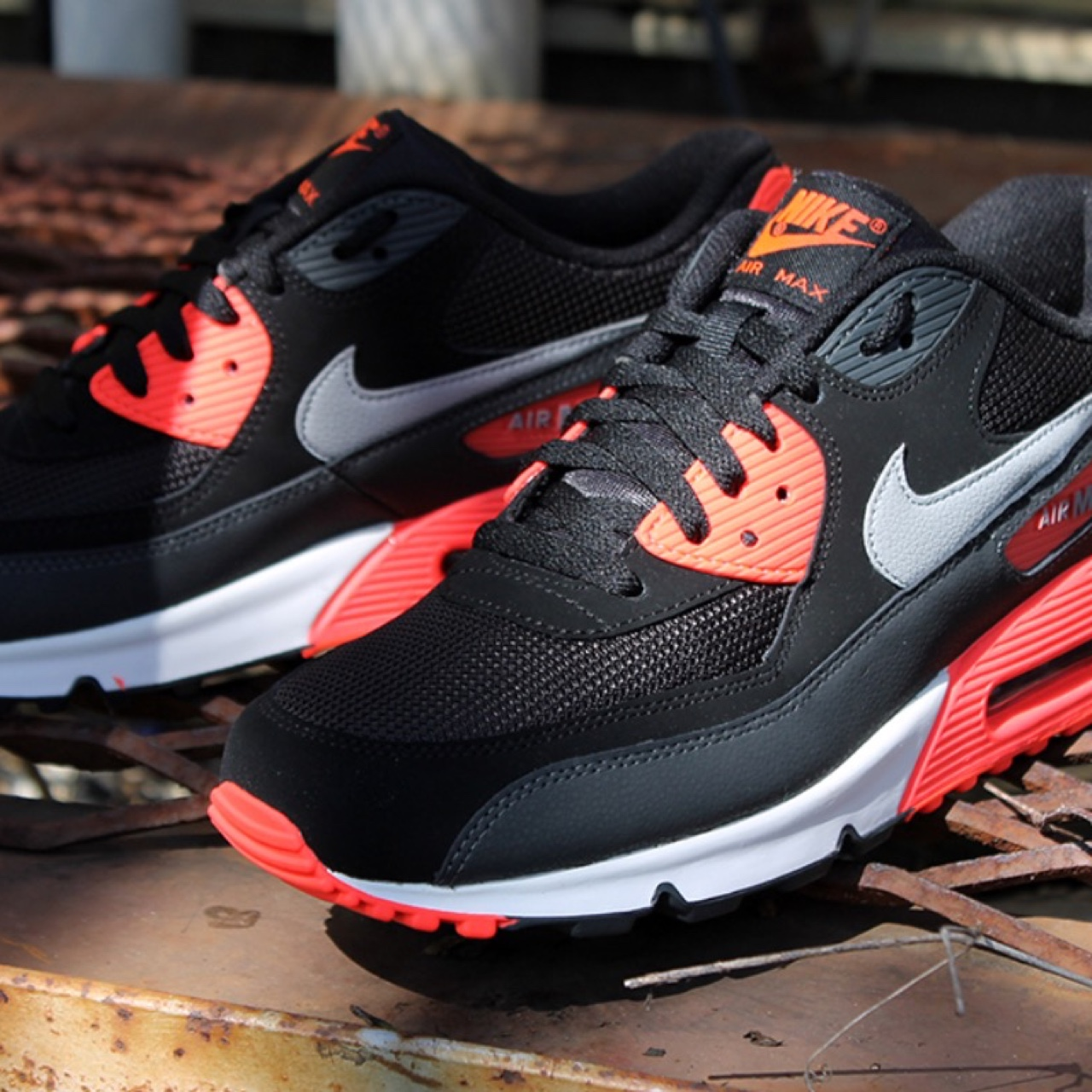 new concept d386c 6dff1 Nike air max 90 black infrared uk size 6 in perfect... - Depop