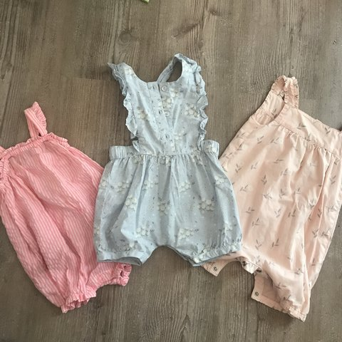 7f28a0b2 Bundle of 6 - 9 month baby rompers 2 x mother care 1 x but - Depop