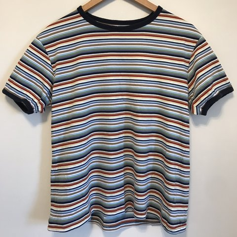 361c40924f @sc544. 3 months ago. Rochester, United Kingdom. Run & Fly mod style multi-colour  striped t shirt