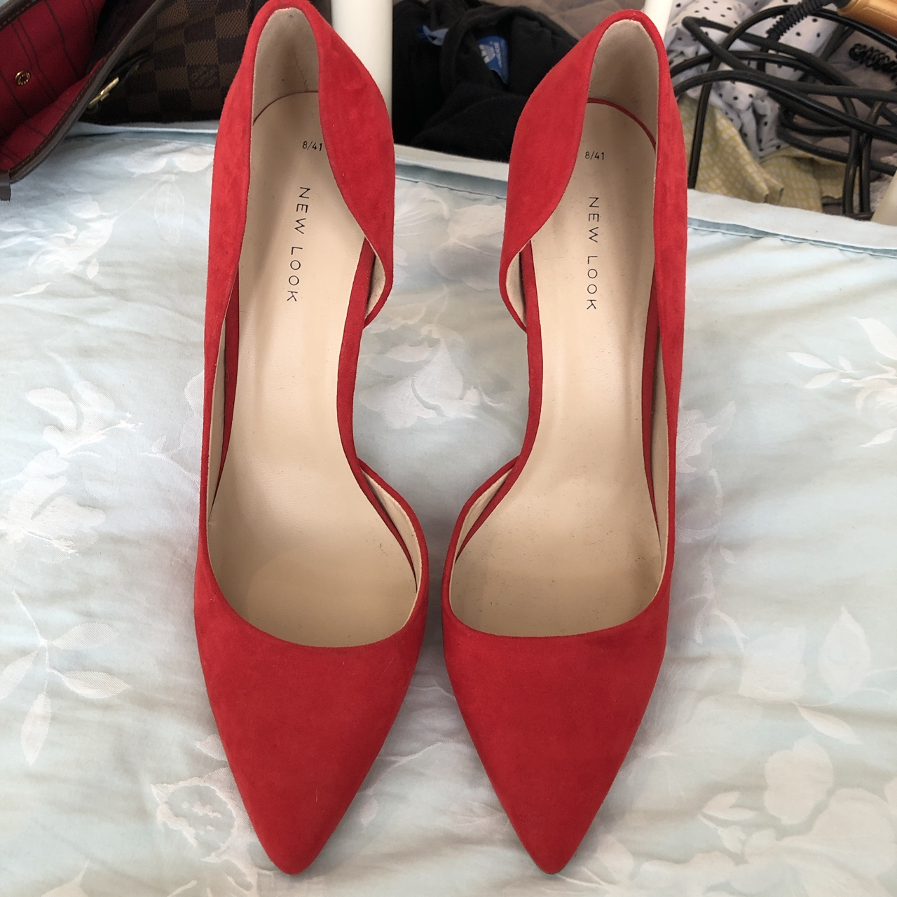 red court shoes new look