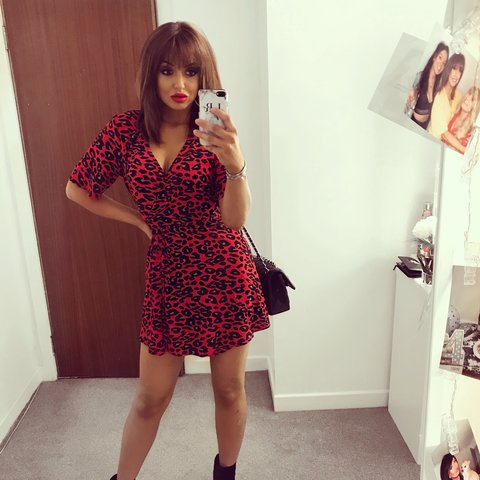 10672e2c63 Red leopard print wrap dress. This is from New Look petite - Depop