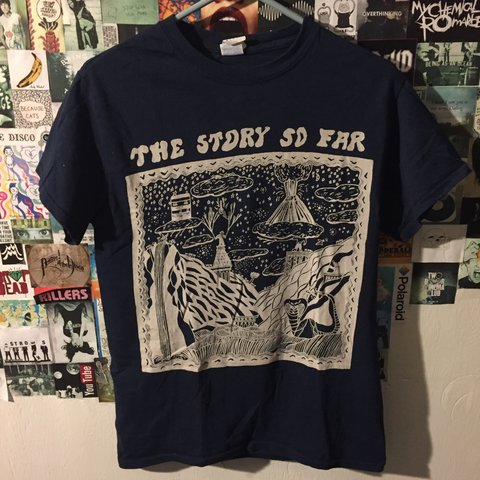 334c72160 The story to far band t-shirt. Only worn a few times. in at - Depop
