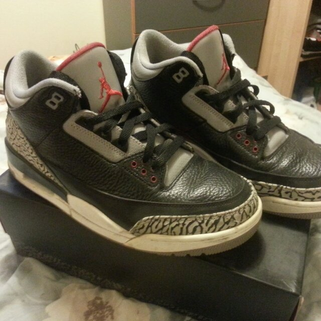 092b96d3ffe7  shaz h. 5 years ago. Nike Air Jordan Retro III  Black Cement  3. Mens size  UK 8.5 US 9.5