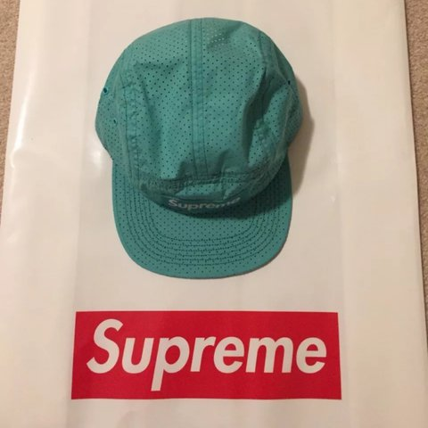 99ddb9aa782 Brand New Genuine Supreme Perforated Camp Cap - One size bag - Depop
