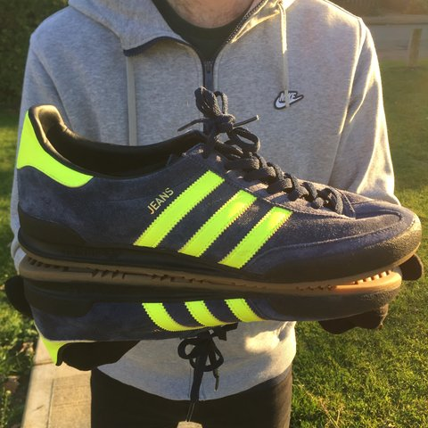 adidas jeans navy yellow