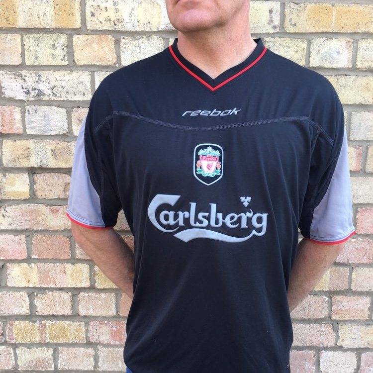 finest selection 4a1e0 d1f43 Vintage Liverpool away kit from the 2002-2003 season ...