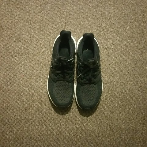 5805032cf9ee2 ADIDAS ULTRA BOOST CORE BLACK UK 9.5 . as you can see they a - Depop