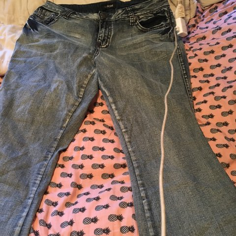 cc39bbcf32a Lane Bryant Bootcut jeans! Size 16 Look at that bedazzled - Depop