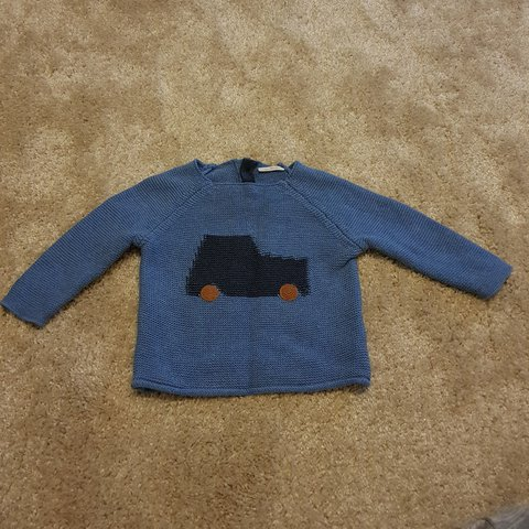 5c909e8b0 Next baby boy knitted car jumper. Size 3-6 months but is big - Depop