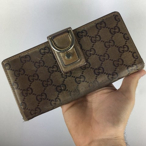 dd93a1c1952 Gucci Monogram Long Wallet ONE SIZE FREE DOMESTIC SHIPPING - Depop