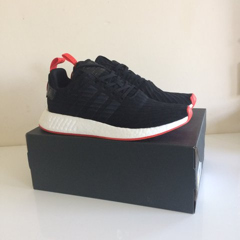 a7d7be3e0 Adidas nmd black red pm me with offers size 10 brand new 2 - Depop