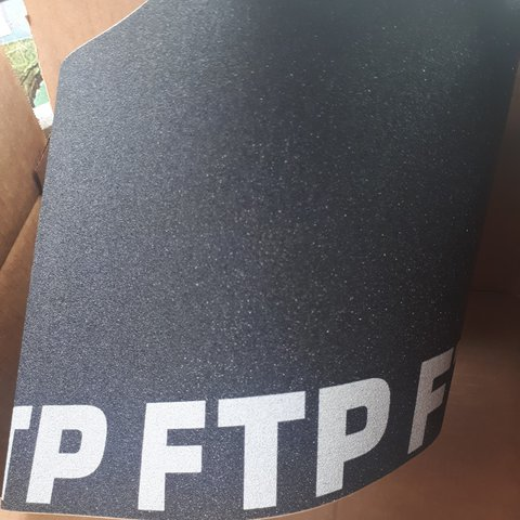 f5228767f09d8 FTP Fuck the population griptape    would look sick with the - Depop
