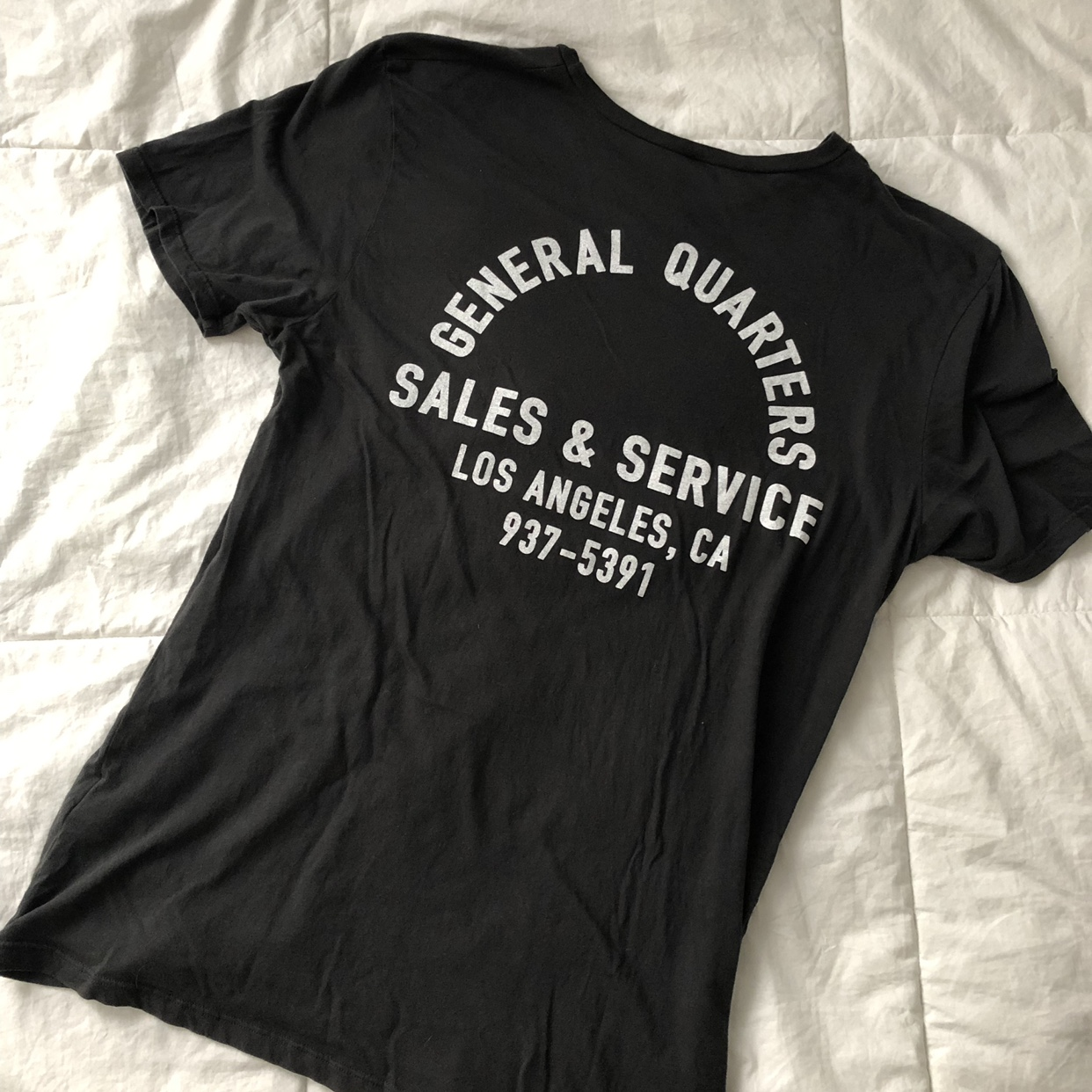 General Quarters shop tee, small  Front and back    - Depop