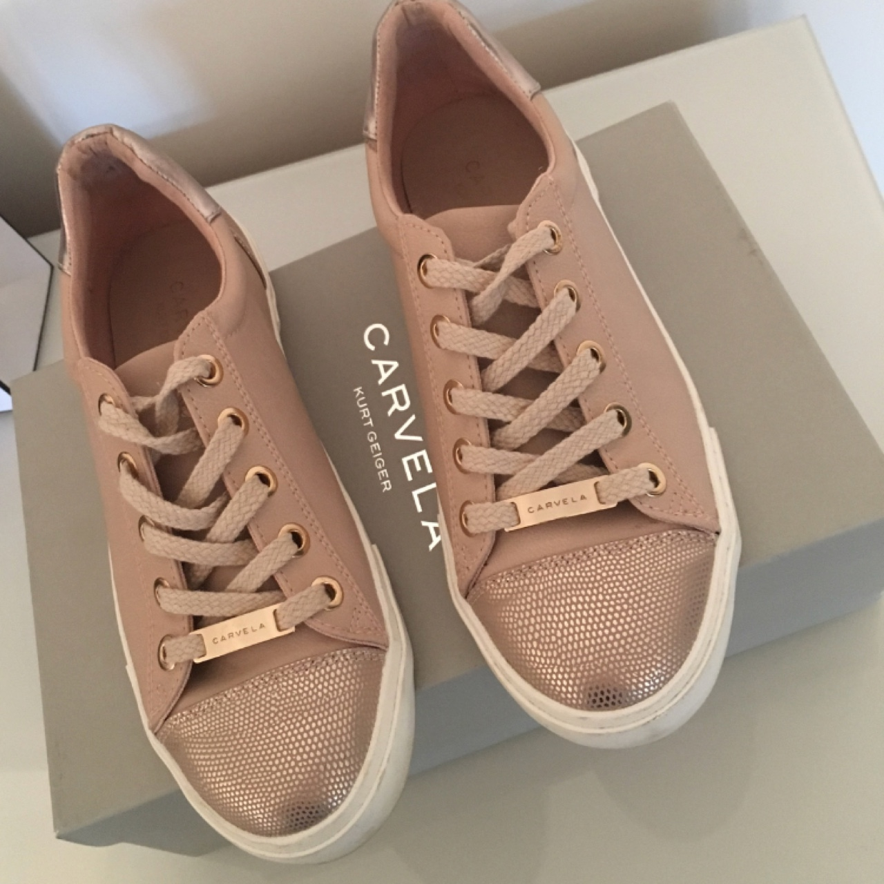 Carvela light trainers in pale pink