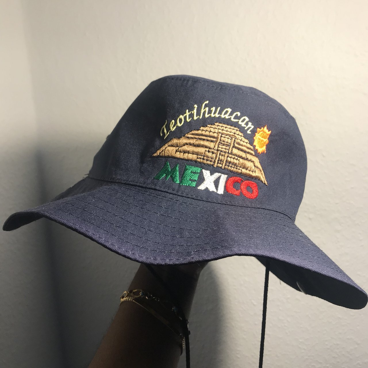 Bucket hat from Mexico! Pyramid of the Sun! Pretty hype ONE - Depop 1546bdb1c