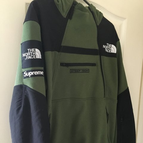 d389a62e29 ... where can i buy supreme x the north face steep tech pullover hoodie  olive depop 9f9cd ...