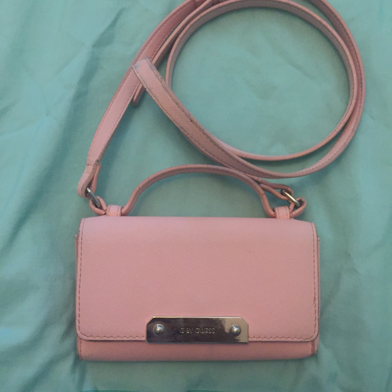 Pre-loved mini pink guess purse. Got me through the semester - Depop 12a7446fbd672