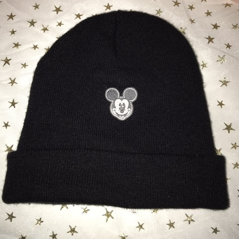 a377e38280a20 Disney Mickey Mouse black beanie hat. Size OS Shipping - Depop