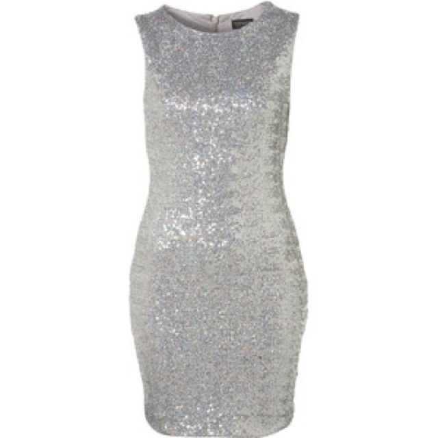 159deebb Silver sequins dress from topshop for sale, stand out dress - Depop