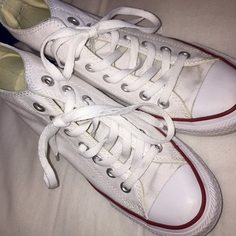 bde8d6a2f6d White wedge converse Size UK 5 8 10 condition little dirty - Depop