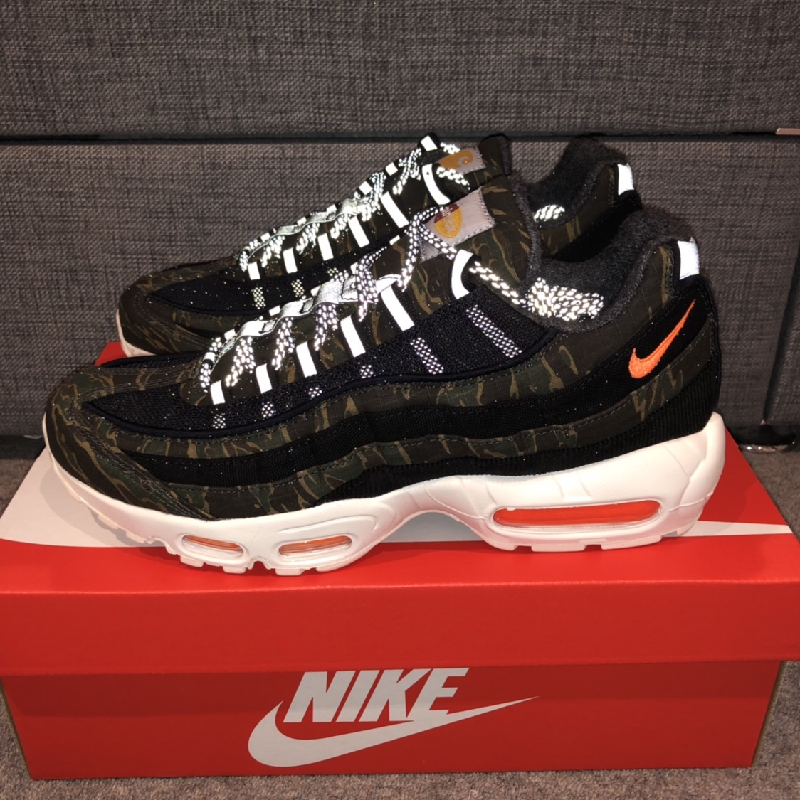 new arrival b826a 73ab6 Nike air Max 95 Carhartt WIP. Size 8 Brand new &... - Depop