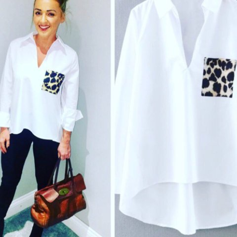 bf0de8be7b75c Zara leopard pocket shirt Xs. Amazing condition only worn - Depop