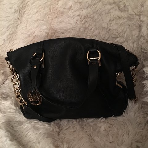 98d90b8a36bf @brittanyrodriguez7. 2 years ago. Orlando, FL, USA. Michael Kors Tristan bag.  Genuine. Black with gold hardware and crossbody ...