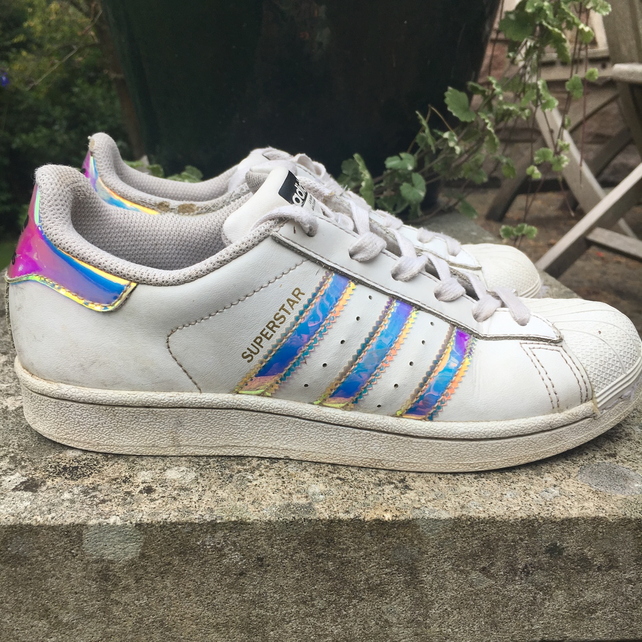 adidas superstar rainbow stripes