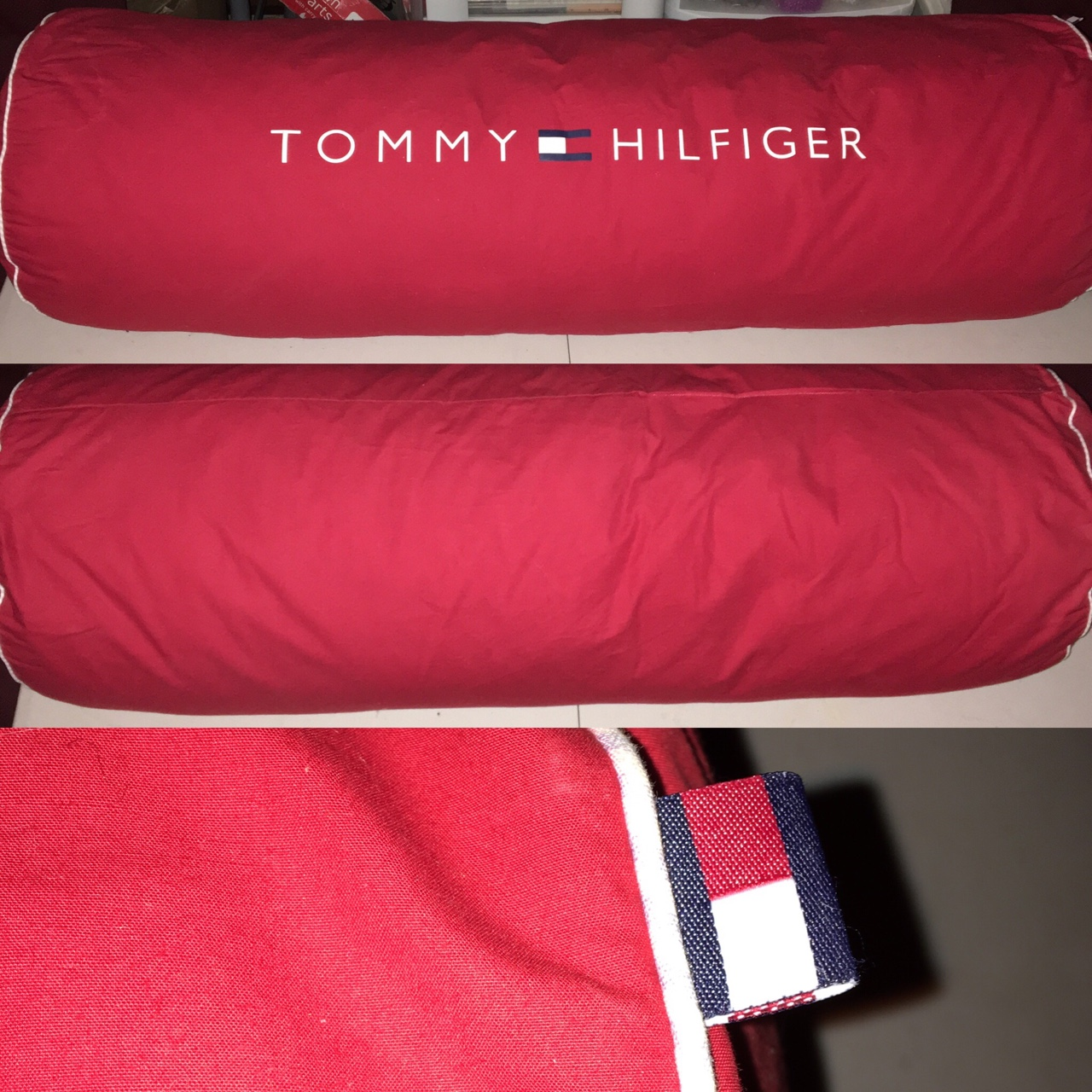 Tommy Hilfiger Spell Out Decorative Body Pillow Depop