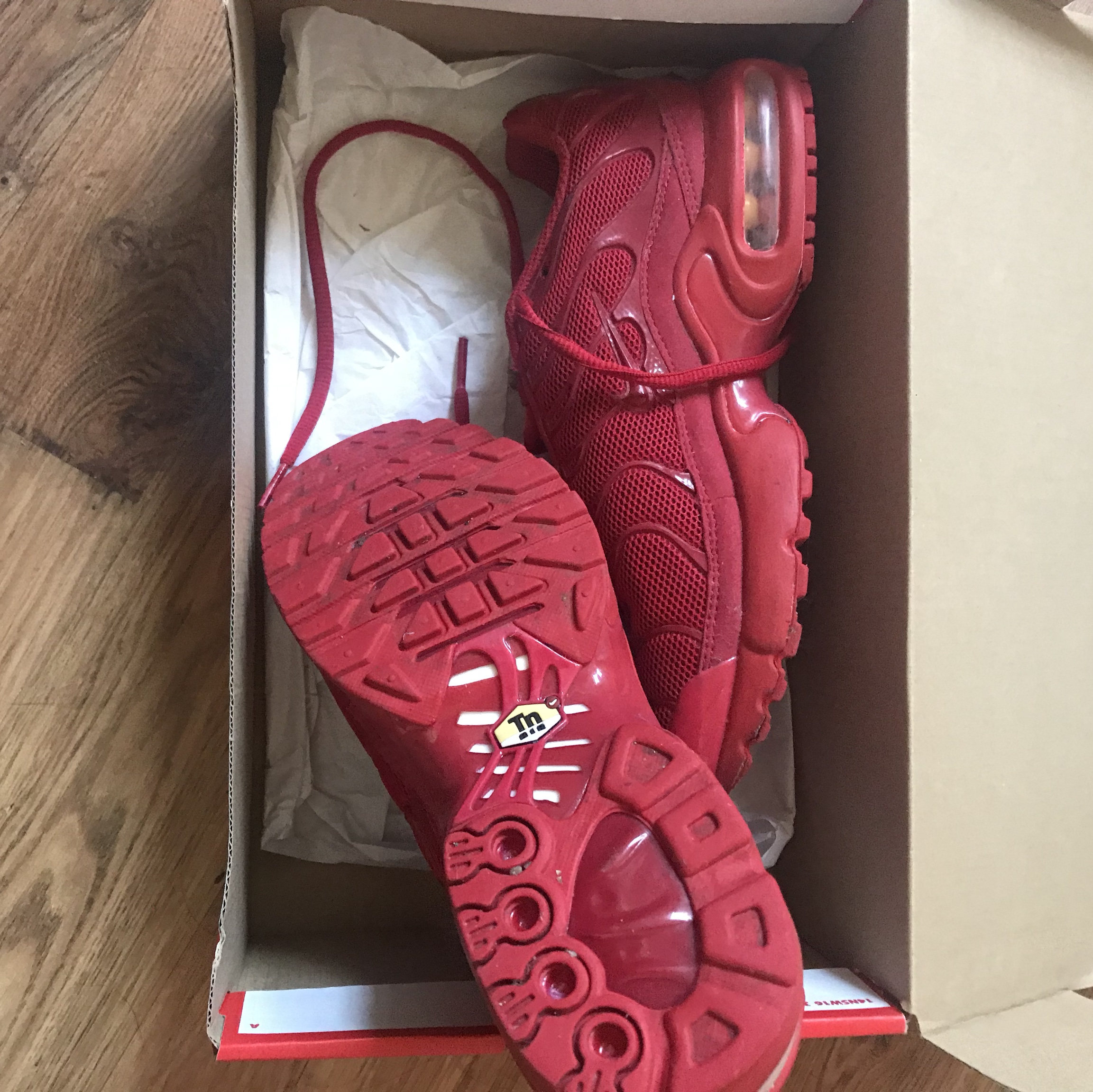 detailed look 0e718 018fe Red tns trainers, women's/junior UK size 4.5 love... - Depop