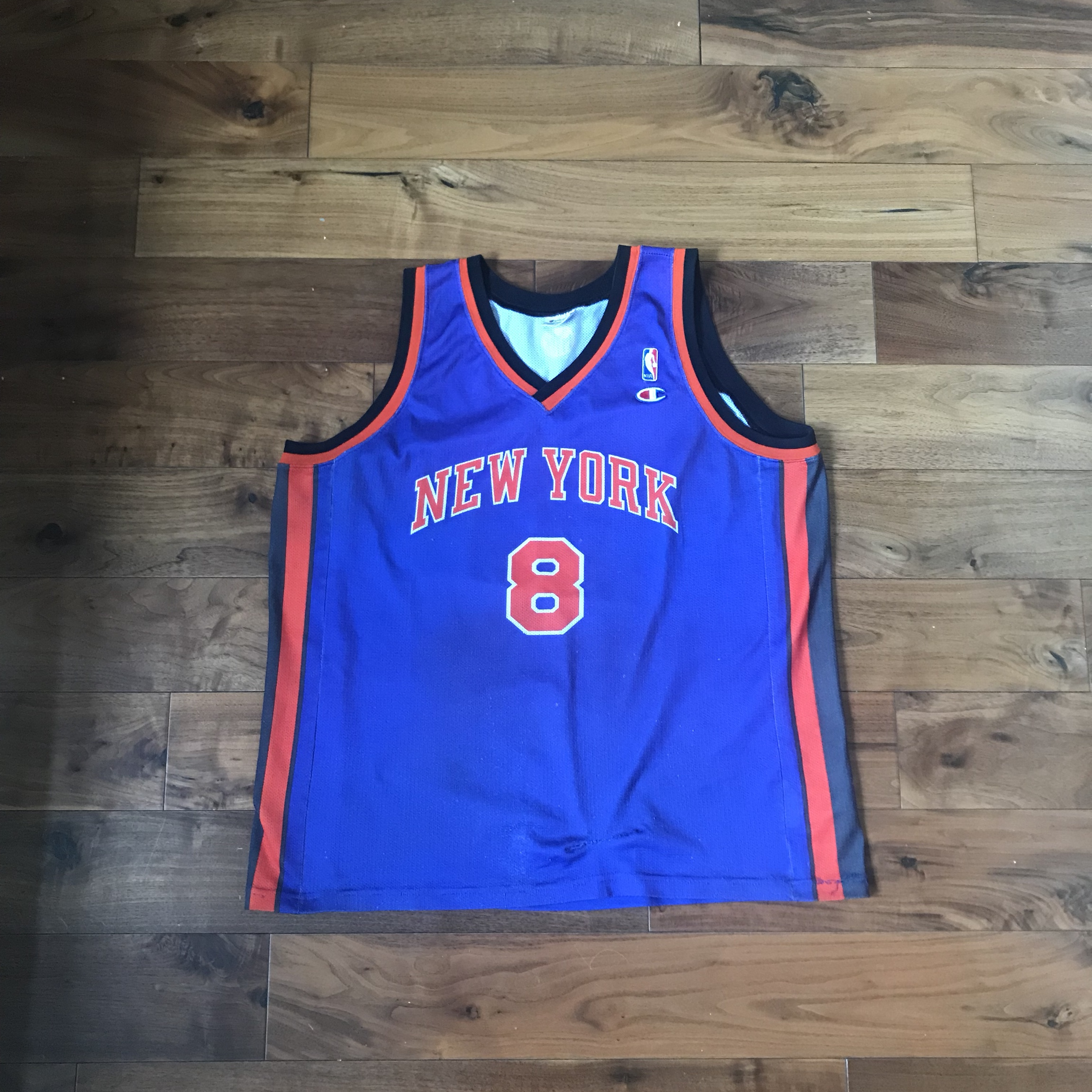 various colors b71c3 545b4 New York Knicks Sprewell Jersey XL Champion... - Depop