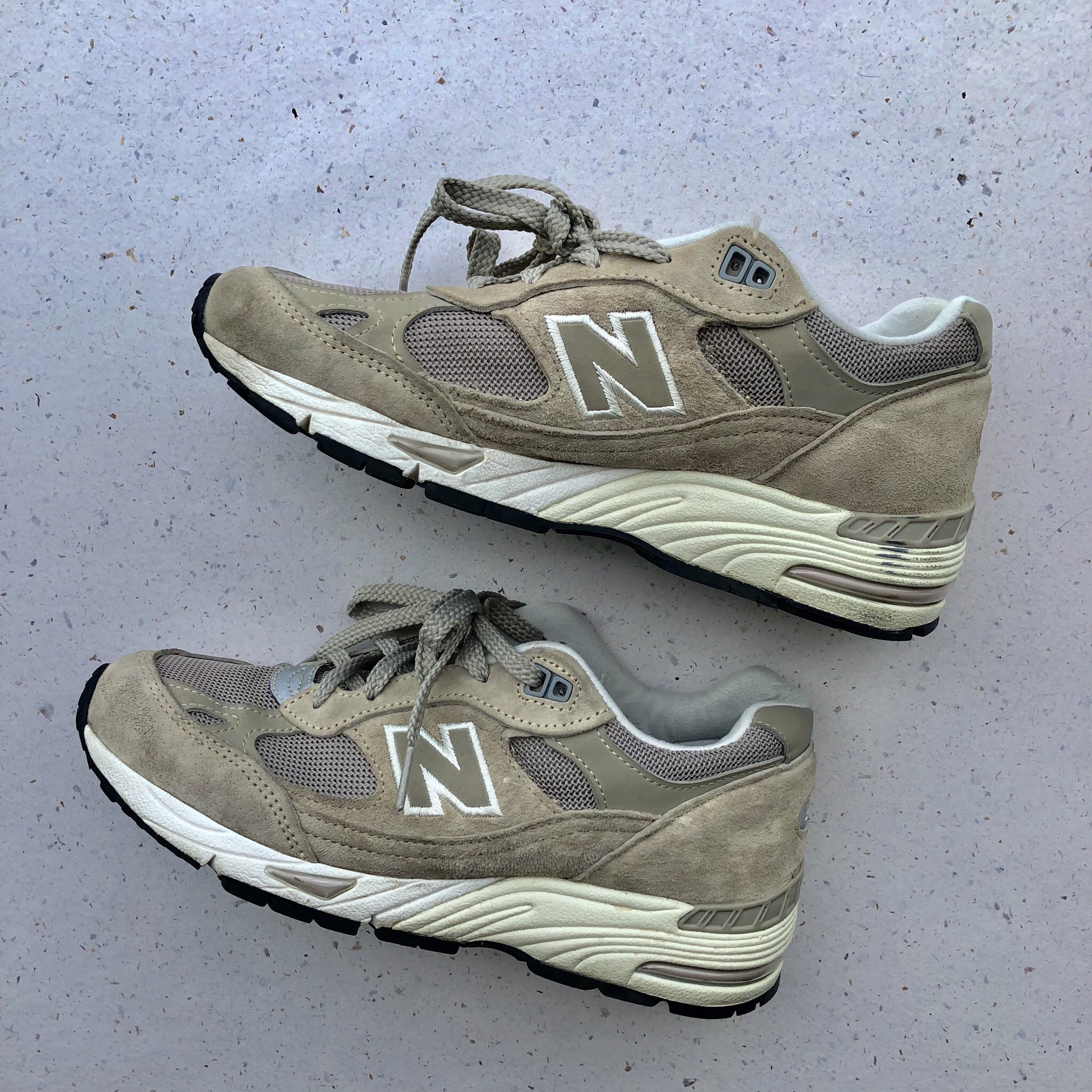 New Balance NB Suede Pig Skin Beige 991 Trainers Depop