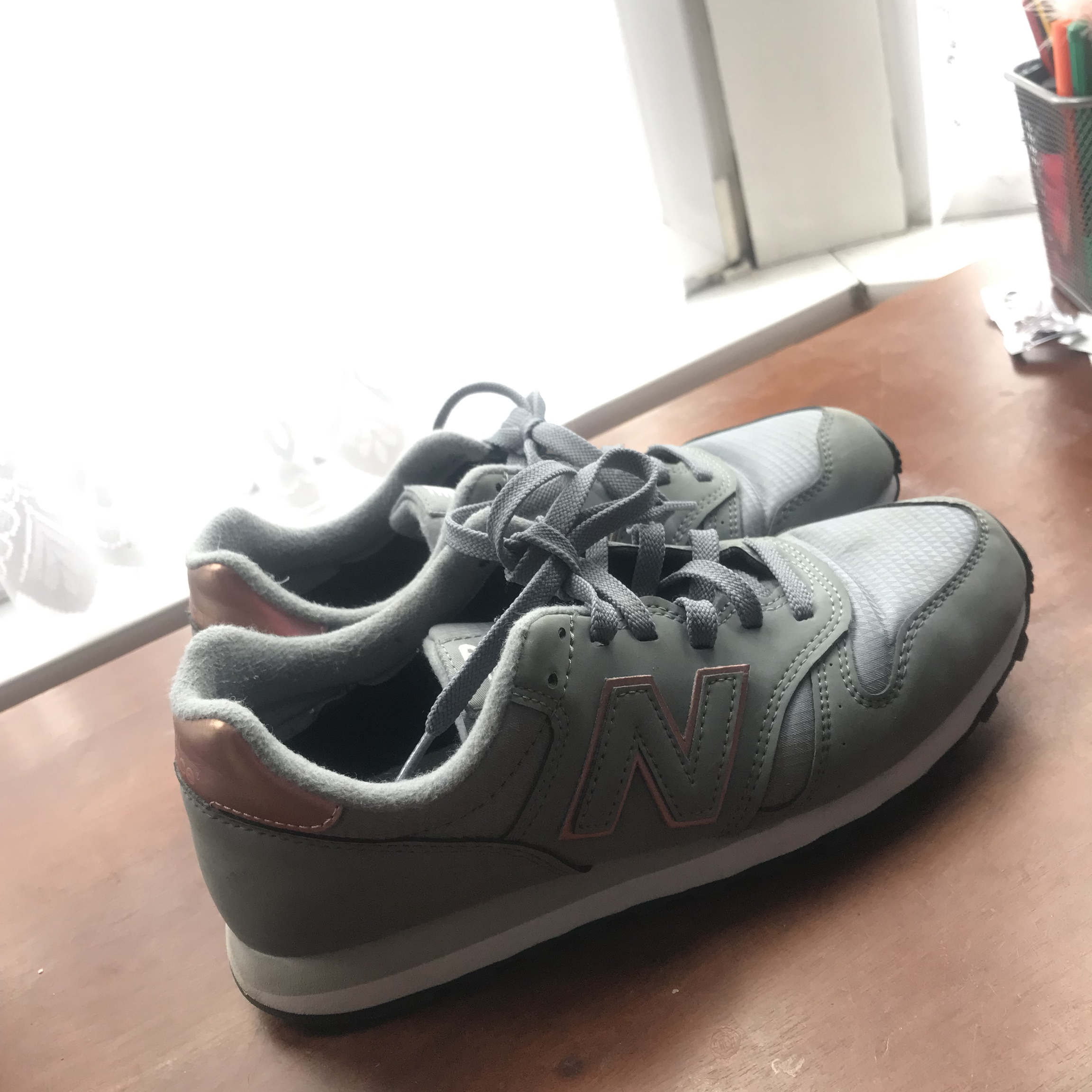 Nike New balance 373 trainers, grey and rose Depop
