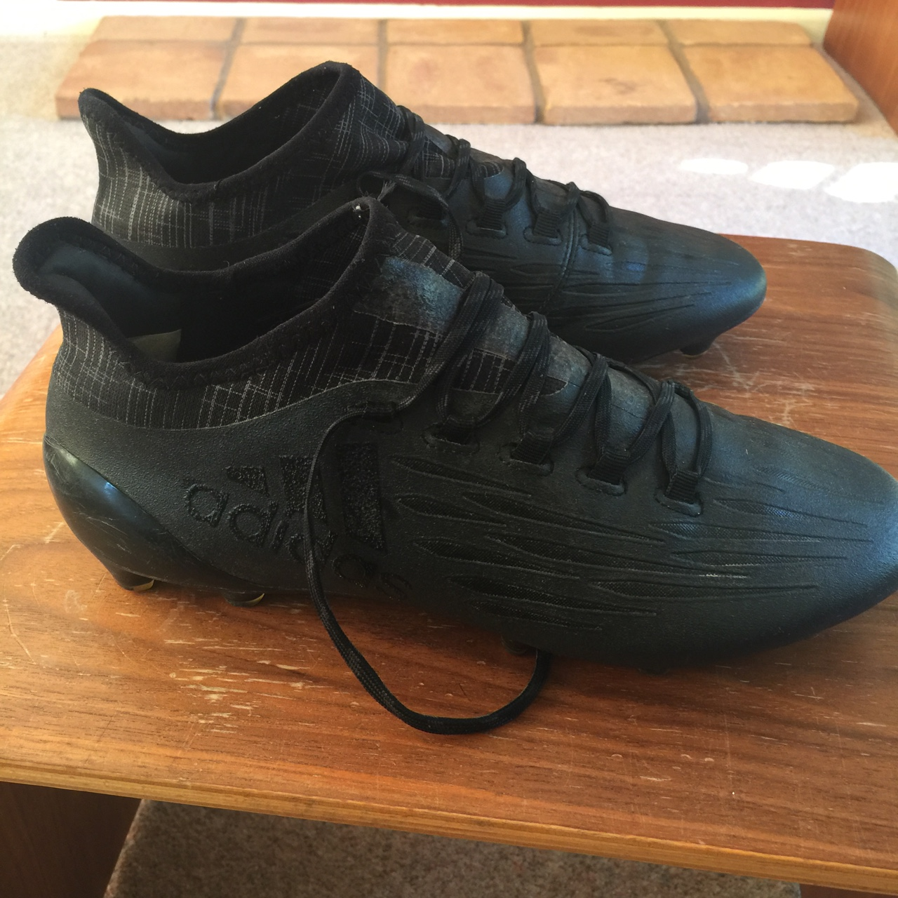 Cien años Maldición En honor  Black out adidas x16.2 football boots. Firm ground... - Depop