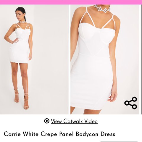 5f2d2088363 Pretty Little Thing white bodycon dress