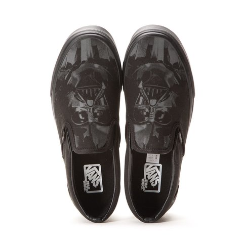 12d3629f330904 Vans x Star Wars darth Vader all black slip on size 6.5 sold - Depop