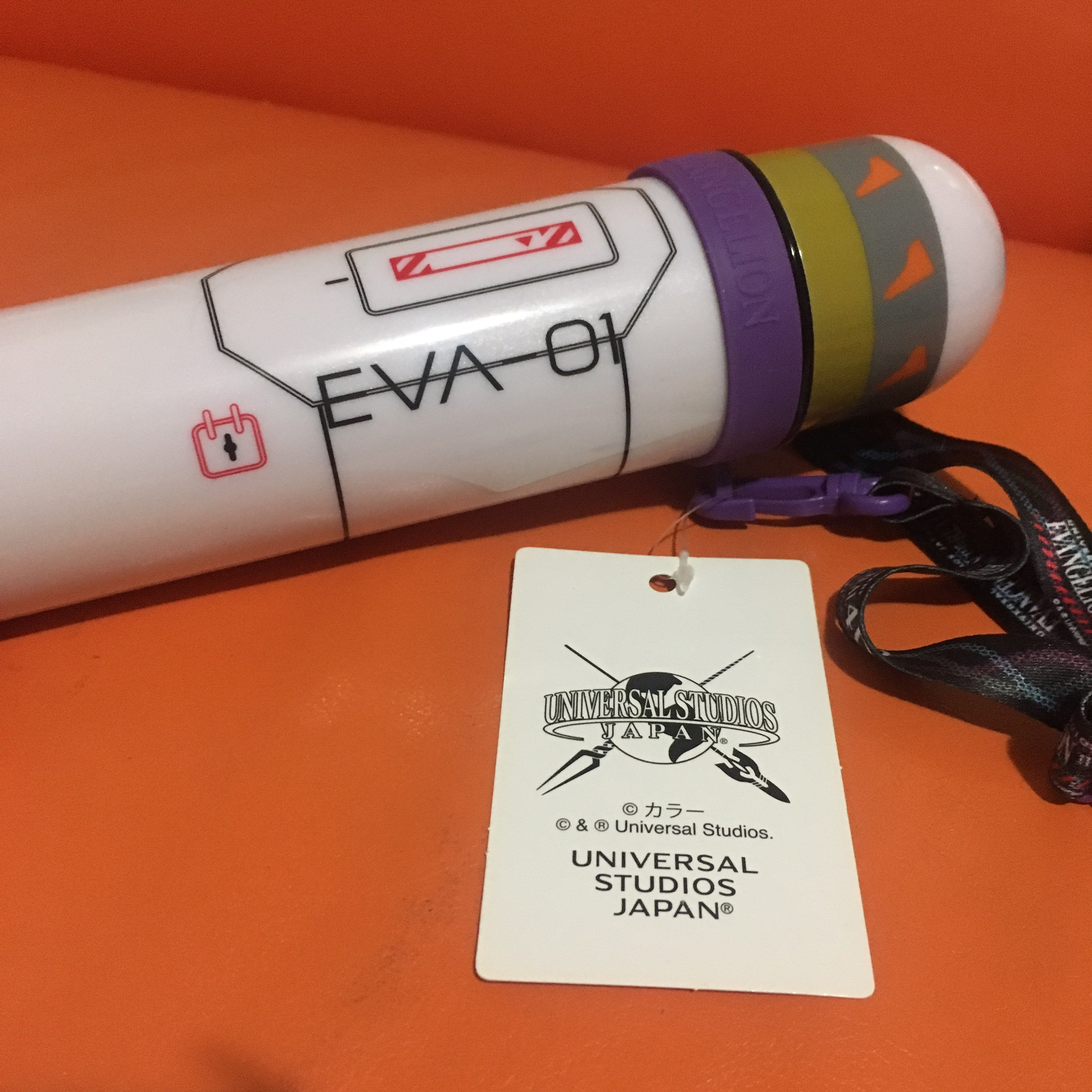 Evangelion Water Bottle First Unit Universal Studios Japan Limited Very Rare