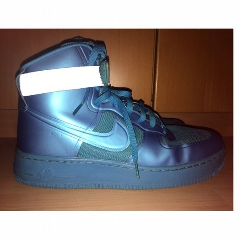 1ba5b33abcee Nike Air Force 1 High-Top Hyperfuse Electric Blue Reflective - Depop