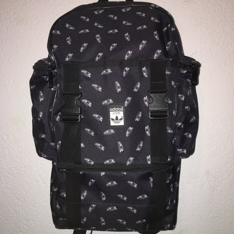 11c155c6c837 RARE black adidas backpack with superstars printed on it Has - Depop