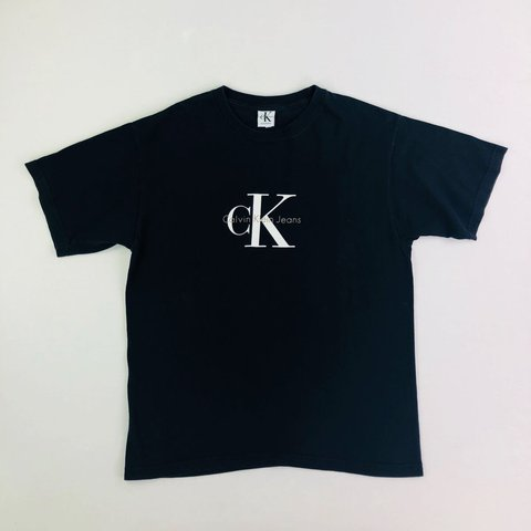 31dcd6a93ad7 @droopymj. last year. Leeds, United Kingdom. CALVIN KLEIN VINTAGE CHARCOAL  BLACK T SHIRT