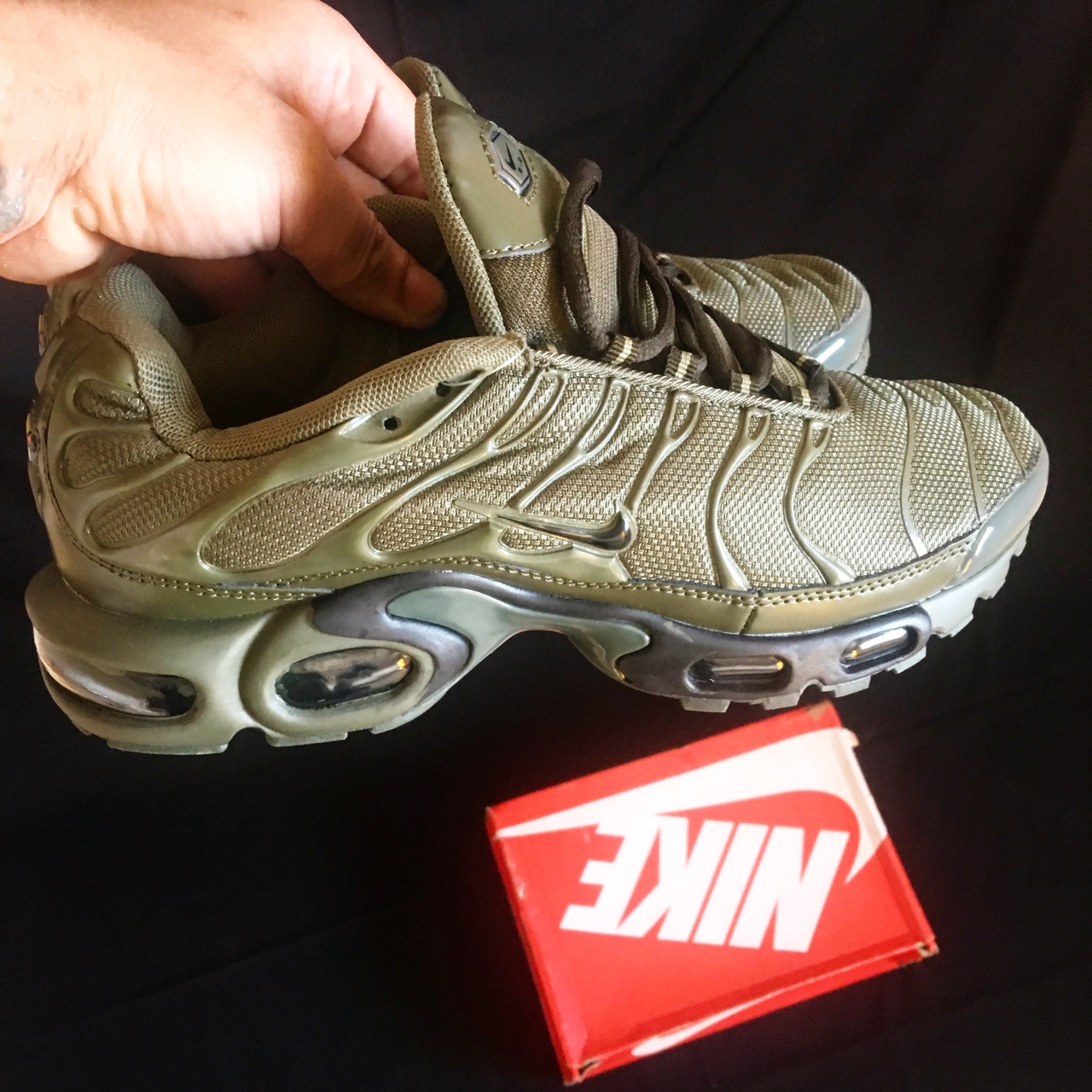online store fd491 fa45d Nike air max tuned tn plus olive green Edition... - Depop