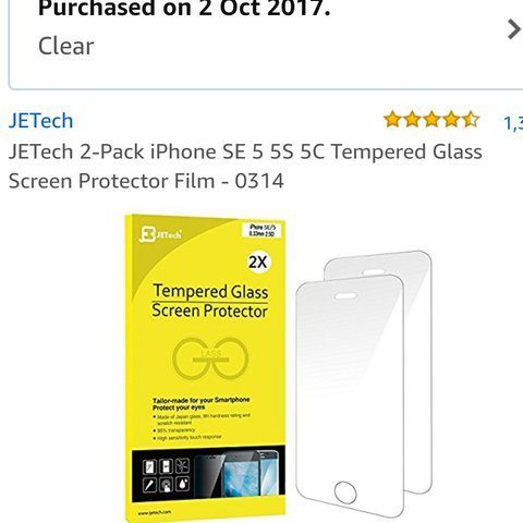 b0b50962b86 @deelynch. last year. Westmeath, Ireland. JTech 2 pack iPhone 5/5s/5c/SE tempered  glass screen protector films